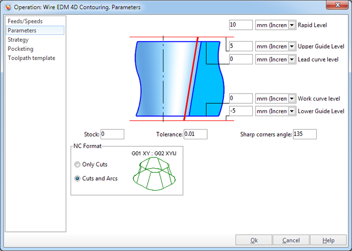 Wire EDM 4d Contouring - SprutCAM 12 All lang User Manual